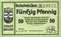 Banknotes Brillon. Stadt. Billet. 50 pf 18.5.1917