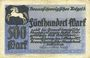 Banknotes Brunswick. Braunschweigische Staatbank. Billet. 500 mark 1.10.1922