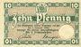 Banknotes Brunswick Herzoglich Braunschweigische-Lüneburgisches Finanzkollegium. Billet. 10 pf (1917)