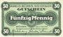 Banknotes Büren. Kreis. Billet. 50 pf 3.7.1917