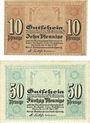 Banknotes Cheminitz. Amtshauptmannschaft. Billets. 10 pf, 50 pf 19.4.1917