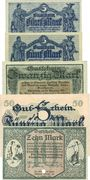 Banknotes Chemnitz. Finanzvereinigung Chemnitzer Industrieller.Billets. 5 mk(2ex), 20, 50 mk -10 mk