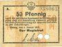 Banknotes Elbing (Elblag, Pologne). Stadt. Billet. 50 pfennig 8.1.1917, Annulation par perforation