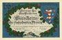 Banknotes Kahla. Leuchtenburg-Wirtschaft. Billet. 75 pf 15.6.1921, 2e série : Châteaux de Thuringe