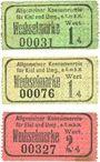 Banknotes Kiel. Allgemeiner Konsumverein für Kiel und Umg. e.G.m.b.H. Billets. 1 pf (2ex), 2 pf