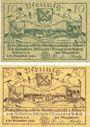 Banknotes Köben (Chobienia, Pologne). Stadt. Billets. 10 pf, 50 pf 24.12.1920