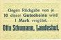 Banknotes Landeshut (Kamienna Gora, Pologne), O. Schumann, billet, 10 pf avril 1920