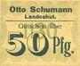 Banknotes Landeshut (Kamienna Gora, Pologne), O. Schumann, billet, 50 pf (1920)