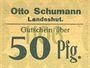 Banknotes Landeshut (Kamienna Gora, Pologne), O. Schumann, billet, 50 pf 1920