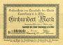 Banknotes Lauenburg a. d. Elbe, Sparkasse der Stadt, billet, 100 mark 31.10.1922