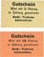 Banknotes Lichtenfels a. Main, Andr. Tschran, billets, 5 pf, 10 pf