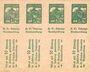 Banknotes Lichtenfels a. Main, H. O. Schulze Buchhandlung, billet, 10 pf (1920). Page de 8 ex.