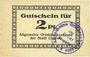 Banknotes Liegnitz (Legnica, Pologne), Allgemeine Ortskrankenkasse, billet, 2 pf, carton blanc mince