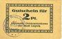Banknotes Liegnitz (Legnica, Pologne), Allgemeine Ortskrankenkasse, billet, 2 pf, carton chamois