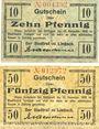 Banknotes Limbach, Stadt, billets, 10 pf, 50 pf n.d. - 31.12.1918