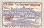 Banknotes Linz am Rhein, Stadt, billet, 25 pf 1.7.1920, avec surimpression au rev : 25. Rhein Prov.-Feuerwehr