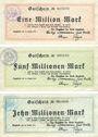 Banknotes Lippstadt, Stadt, billets, 1, 5, 10 millions mark 14.8.1923