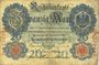 Banknotes Allemagne. Billet. 20 mark 10.9.1909,  série D
