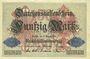 Banknotes Allemagne. Billet. 50 mark 5.8.1914, série B