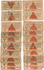 Banknotes Allemagne. Camps allemands de prisonniers de guerre 1939-1945. Lot de 20 billets de 10 pfennig