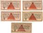 Banknotes Allemagne. Camps allemands de prisonniers de guerre 1939-1945. Lot de 5 billets de 10 pfennig