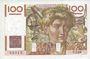 Banknotes Banque de France. Billet. 100 francs jeune paysan, 2.1.1953