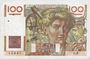 Banknotes Banque de France. Billet. 100 francs jeune paysan, 7.11.1945