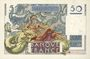 Banknotes Banque de France. Billet. 50 francs Le Verrier, 12.6.1947