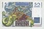 Banknotes Banque de France. Billet. 50 francs Le Verrier, 2.10.1947
