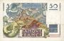 Banknotes Banque de France. Billet. 50 francs Le Verrier, 2.3.1950