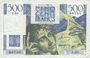 Banknotes Banque de France. Billet. 500 francs (Chateaubriand) 7.11.1945. Manque couleur rouge à l'avers