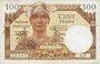 Banknotes Territoires occupés. Billet. 100 francs, Trésor français, type 1947
