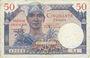 Banknotes Territoires occupés. Billet. 50 francs, Trésor français, type 1947