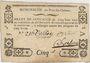 Banknotes Pont-du-Château. Billet de confiance de 5 sous n. d., 3 signatures