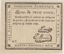 Banknotes Rouen. Bon de 3 livres du 31.7.1792