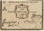 Banknotes Toulon. Billet de confiance de 5 sols 1791