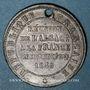 Coins 2e centenaire Réunion de l'Alsace à la France (traité Westphalie). 1848. Médaille étain, flan mince