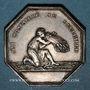 Coins Alsace. Bas-Rhin. Société des Sciences, Agriculture et Arts du Bas-Rhin. Jeton octogonal. Argent