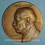 Coins Alsace. Beblenheim. Christian Pfister historien, recteur, franc-maçon (1857-1933) 1932 méd. br 63mm