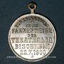 Coins Alsace. Bischheim. Bénédiction du drapeau de l'association Théatralia. 1900. Médaille laiton argenté