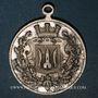 Coins Alsace. Cernay. 75e anniversaire orchestre municipal et des pompiers. 1907. Médaille bronze argenté