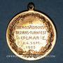 Coins Alsace. Colmar. 2e tournoi de gymnastique du Haut-Rhin. 1905. Médaille bronze doré