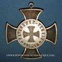 Coins Alsace. Colmar. Association des Vétérans de 1870. 1883. Croix en bronze, avec son anneau