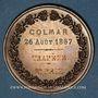 Coins Alsace. Colmar. Concours de gymnastique. 1867. Médaille en cuivre. 42,65 mm