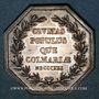 Coins Alsace. Colmar. Conseil Municipal de 1821. Jeton octogonal en argent. Sans signature
