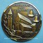 Coins Alsace. Eschau. Bénédiction des cloches. 1987. Médaille bronze. Uniface. 60 mm. Signée Gerner