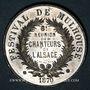 Coins Alsace. Festival de Mulhouse. 8e réunion des chanteurs d'Alsace. 1870. Médaille en étain. 28 mm