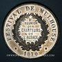 Coins Alsace. Festival de Mulhouse. 8e réunion des chanteurs d'Alsace. 1870. Médaille en étain. 42 mm