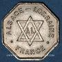 Coins Alsace. Franc-maçonnerie – Loge Alsace – Lorraine de Paris. 1872-1920. Médaille en maillechort