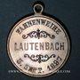 Coins Alsace. Lautenbach. Association Ste Cécile - Bénédiction du drapeau. 1897. Médaille laiton argenté